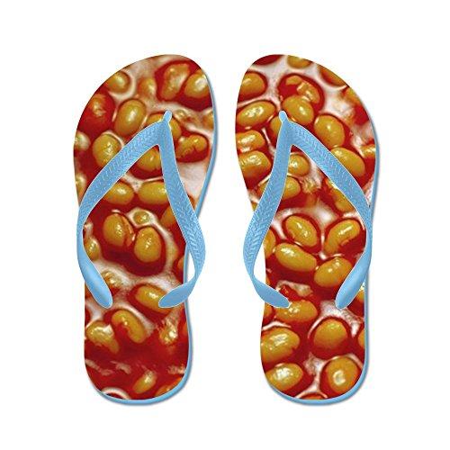 CafePress Baked Beans - Flip Flops, Funny Thong Sandals, Beach Sandals Caribbean Blue