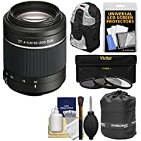 Sony Alpha A-Mount 55-200mm f/4-5.6 DT SAM Zoom Lens with Sling Backpack + 3 Filters + Pouch + Kit for A37, A58, A65, A68, A77 II, A99 Cameras