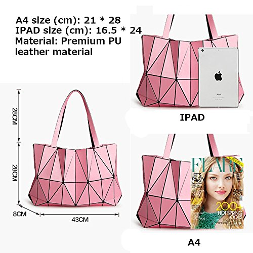 (JVPS11-G) Bolso bandolera de cuero de la PU de las mujeres con bolsas de hombro populares de 3 maneras para mujeres Bolso bandolera de peso pesado de mujeres populares con anillos de luz Negro