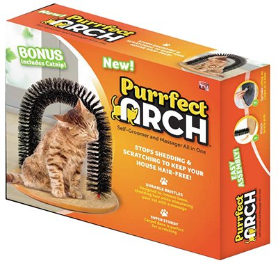 Purrfect Arch Self Groomer with Bag of Catnip Cat Grooming Arch