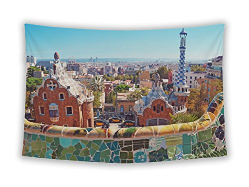 Gear New Wall Tapestry For Bedroom Hanging Art Decor College Dorm Bohemian, Parc Guell Barcelona Spain, 26x36