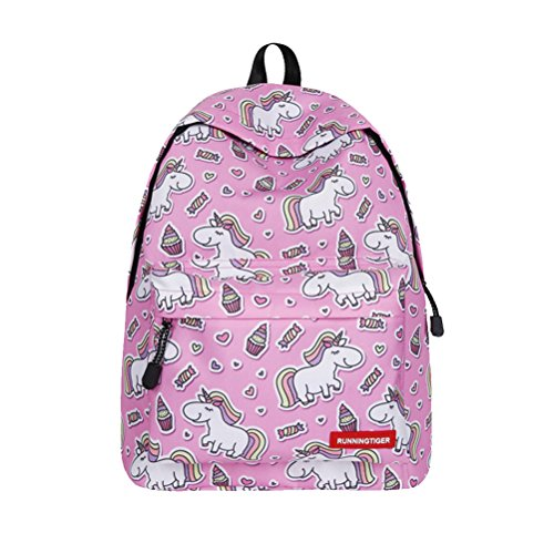 niños peso serie Color3 senderismo viajes camping bolsa Color 2 para Unicornio Escuela niñas ligero TTD mochila patrón 1aSxz