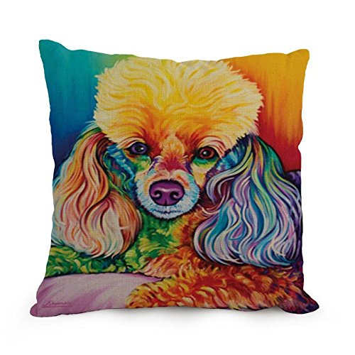 The Dog Art Throw Pillow Case Of ,18 X 18 Inches / 45 By 45 Cm Decoration,gift For Deck Chair,valentine,teens Girls,lover,bedroom (both Sides)