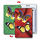 Lenticular Luggage Tag Plastic Loop, 3D Butterfly Changing Colors