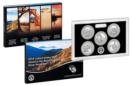 2014 S United States Mint America the Beautiful Quarters Silver Proof Set™ OGP (Silver Quarter Proof)