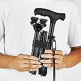 FIDGETERRELAX Folding Walking Cane for Women Men, Portable Walking Stick with LED light-Balancing Mobility Aid, Adjustable, Lightweight