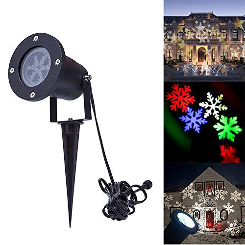 Rabther Multi-Color LED Projector Light, Snowflake Starlight Landscape Headlights, High-Brightness High-Definition Waterproof Stage Lights, Christmas Party Decoration Lights,2Packs