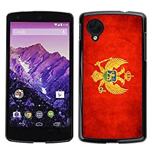 Shell-Star ( National Flag Series-Montenegro ) Snap On Hard Protective Case For LG Google NEXUS 5 / E980