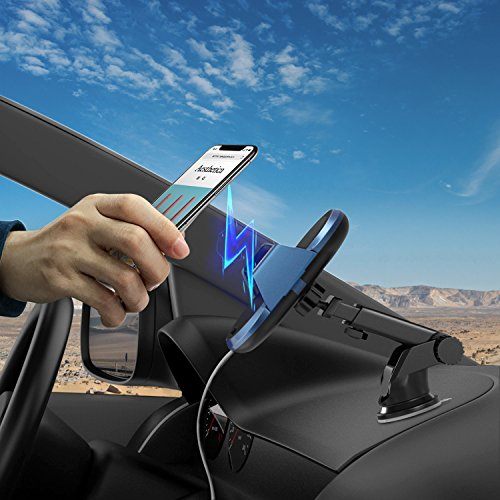 Wireless Car Charger, Automatic Qi Wireless Dashboard Car Mount Wireless Charger Phone Holder 7.5W for iPhone X/8/8 Plus, 10W for Samsung Galaxy S9/S9+/Note 8/S8/S8 Plus, 5W for All QI standard Device by TopMoon (Image #6)