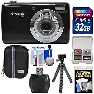 Polaroid iTT28 20MP 20x Zoom Digital Camera with 32GB Card + Case + Flex Tripod + Kit