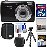 Polaroid iTT28 20MP 20x Zoom Digital Camera (Black) with 32GB Card + Case + Flex Tripod + Kit