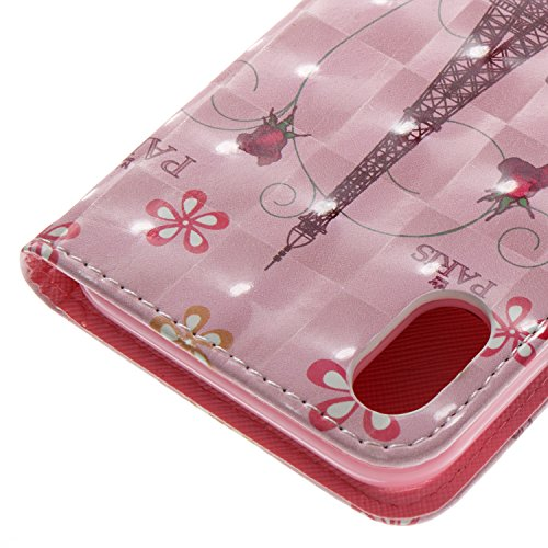 9 Support Portefeuille à Slots Etui Butterfly Housse 3D Tower Rabat Cuir Painted 3D de Etui Carte iPhone Case Painted Arbre de Couleur BONROY Cover 5xqpPW