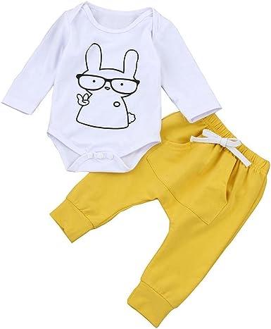 ropa bebe nino otoño baratos Switchali linda blusa bebe niña manga larga Camisetas Bebé Conjuntos moda romper Dibujos animados casual mono + Pantalones (2 piezas) (70 (0~6meses), Blanca): Amazon.es: Ropa y accesorios
