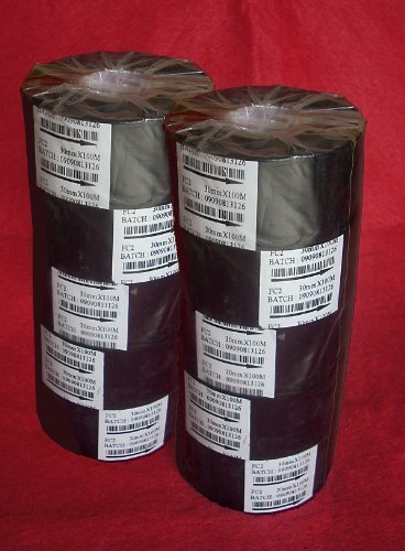 der Black Ribbons 10 units (5 PACK X 2) 33mm wide x 100 meters length ()