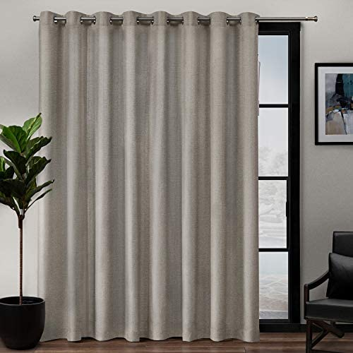 Exclusive Home Curtains Loha Patio Grommet Top Single Curtain Panel, 108X84, Beige