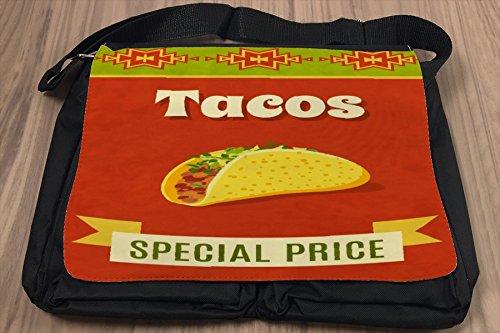 Borsa Tracolla Arredamento Cucina Tacos Stampato