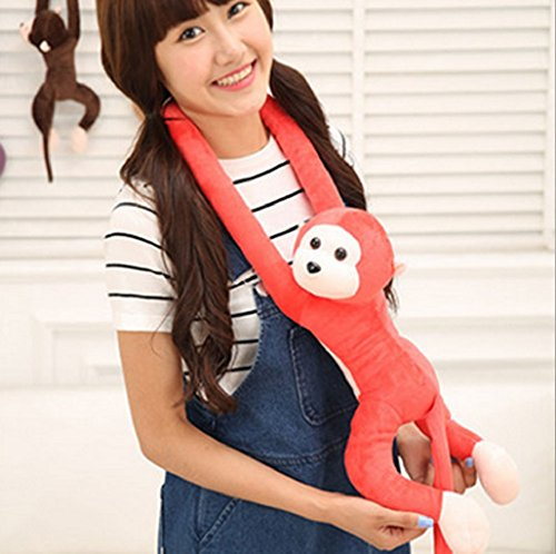 Wrisky Long Arm Monkey From Arm To Tail Plush Toys Colorful Monkey Curtains Monkey Stuffed Animal Doll Curtain Decoration Mascot Valentine's Day Gift