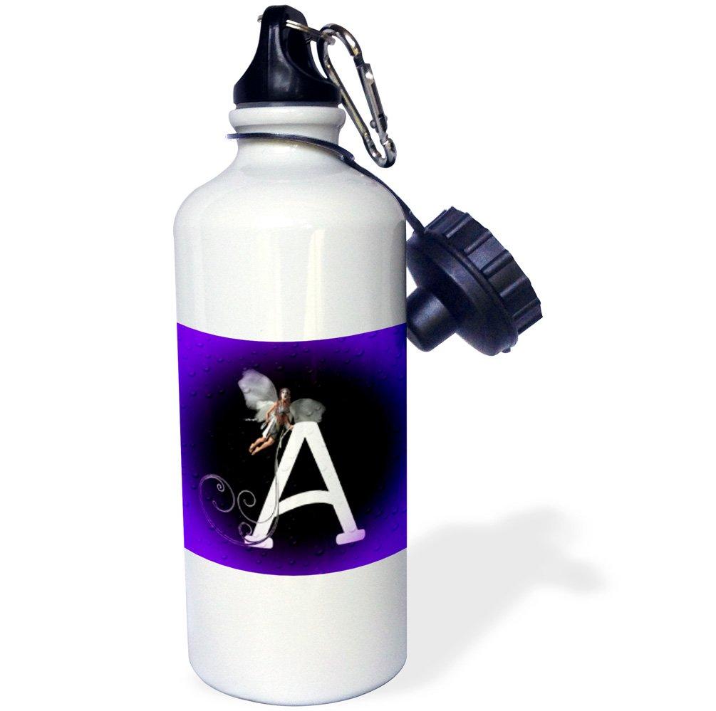 White 21 oz 3dRose wb/_54556/_1 Letter a Sports Water Bottle