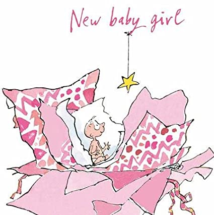 Baby New Baby Congratulations Greeting Card ~ Quentin Blake Design Party Supplies