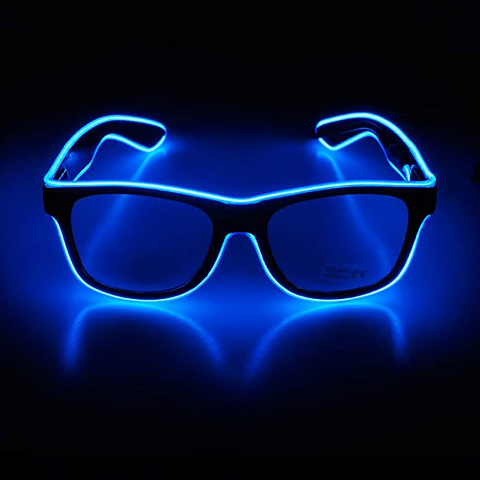 DJ LED Glasses Light Up Glow Flashing Sunglasses Eyewear Nightclub Party USB New