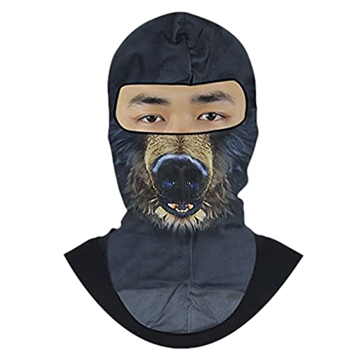 Men Animal Print Balaclava Full Face Mask Elastic Breathable Quick Dry  Anti-Dust Head Wear 492bb5a85793