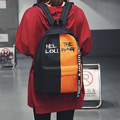 Schultasche Rucksack für Herren Damen Jungen Mädchen, Y56Sport Rucksack atmungsaktiv Ultralight Rucksack Nylon Hit Farbe Schultasche Gripesack backpark für Biking Radfahren Wandern Camping Reisen Ber Orange