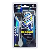 Ultra Max Razor 6 Blade 2PK Blue , Case of 48