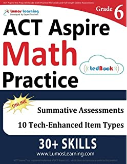 Act aspire test prep 8th grade math practice workbook and full act aspire test prep 6th grade math practice workbook and full length online assessments fandeluxe Images