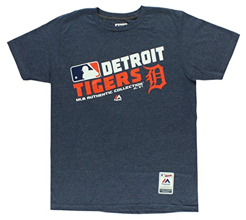 MLB Men's Authentic Collection Team Choice T-Shirt (Medium, Detroit Tigers)