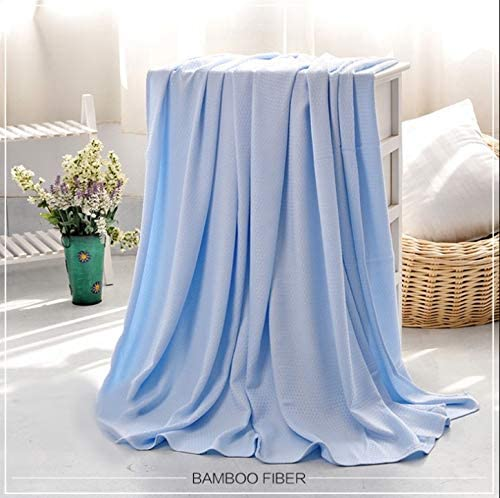 Bamboo Blanket Blue Bamboo Fiber Summer Air Conditioning Cool Blanket Baby Adult Unisex Thin Quilt Baby Bamboo Blanket