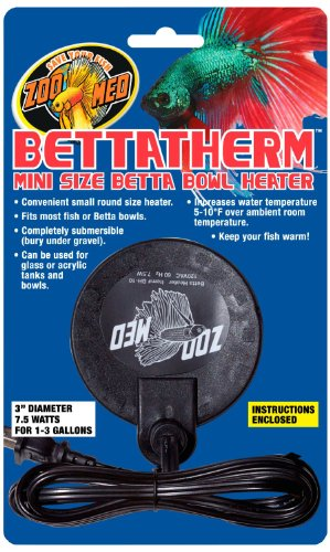 Bettatherm Mini Size Betta Bowl Heater (Fish Bowl Water Heater compare prices)