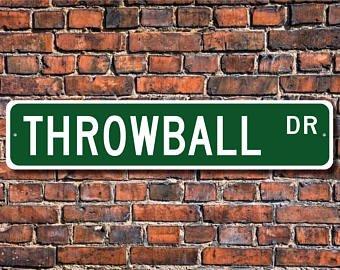 Throwball Player - Throwball, Throwball Sign, Throwball Fan, Throwball Player, Throwball Gift, Non-Contact Ball Sport, Custom Street Sign, Quality Metal Sign