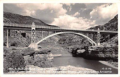 WM A Sullivan Bridge Globe, Arizona postcard