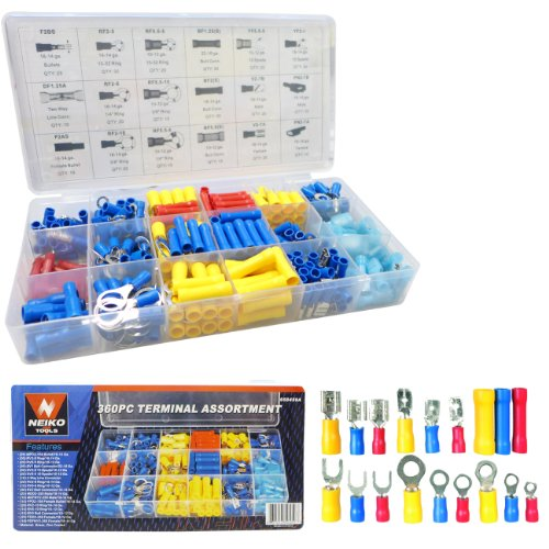 360 piece Solderless Electrical Terminal Assortment