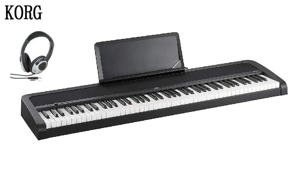 独特な店 KORG 電子ピアノ B1 B1 ブラック BK ブラック 電子ピアノ ヘッドホン セットB01MXDNTIA, 優れた品質:92381365 --- a0267596.xsph.ru