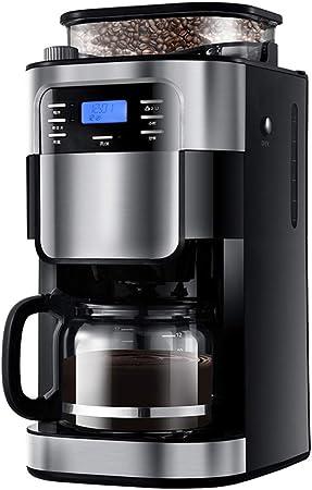 cafetera/cafetera de goteo programable de 12 tazas con cafetera, cafetera con temporizador, diseño antigoteo, cafetera de filtro permanente-Plata negro: Amazon.es: Hogar
