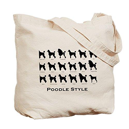 CafePress–Caniche Styles: negro–gamuza de bolsa de lona bolsa, bolsa de la compra