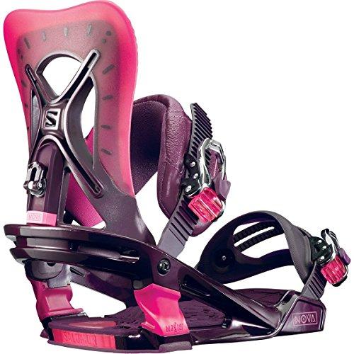 Salomon Snowboards Nova Snowboard Binding - Women's Vine, M (All Mountain Freestyle Snowboard Bindings)