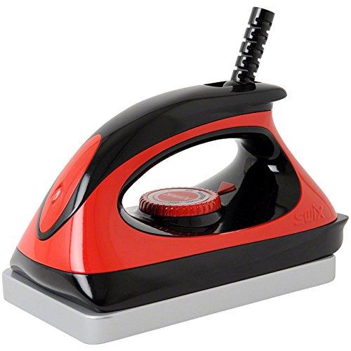 Iron Waxing Snowboard (Swix Universal Ski & Snowboard Waxing Iron with 110V Adjustable Temp, Red, Large)