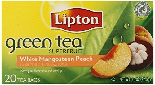 Lipton Tea White Mangosteen With Peach Green Tea, 20-count (Pack of6)