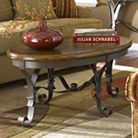 Stone Forge Oval Coffee Table in Tuscan Sun Finish