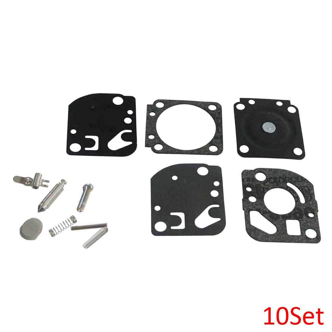 FidgetKute Carb kit RB-20 for Homelite ST155 ST175 ST285 ST385 HB-180 & A03979 10 Sets