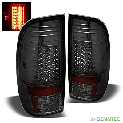 Smoked 2008-2016 F250 F350 F450 G2 LED Tail Lights Rear Smoke Brake Lamp Pair Left+Right 2009 2010 2011 2012 2013 2014