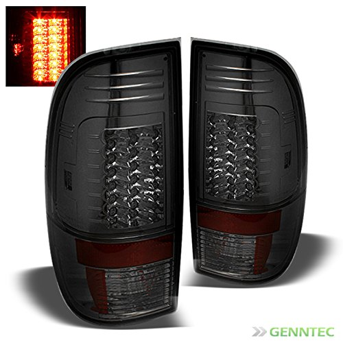 Tail Smoke Lenses Crystal Light (Xtune Smoked 2008-2016 F250 F350 F450 G2 LED Tail Lights Rear Smoke Brake Lamp Pair Left+Right 2009 2010 2011 2012 2013 2014)