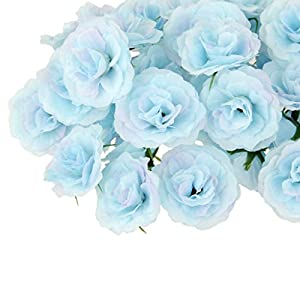 DYNWAVE 50PCS Real Touch Artificial Silk Flower Heads Blossom Buds Simulation Fake Carnation Flowers, for Home Wedding Decoration Crafts Materials 87