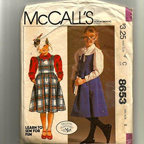 Jumper Ashley Laura - Uncut Vintage McCalls Girls Laura Ashley Sz 8 Jumper and Blouse Pattern 8653