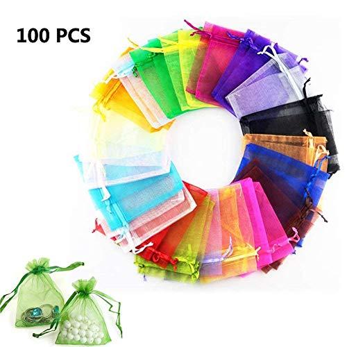 BoTen 100PCS Bunched Yarn Bag Gift Bag Eugene Yarn Bag Jewelry Bag Drawstring Bag -
