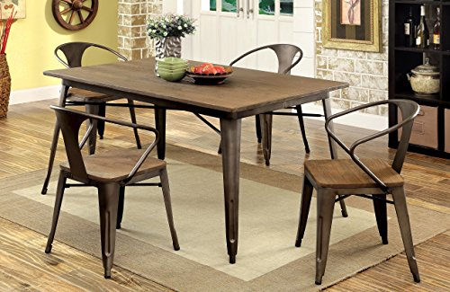 Furniture of America Cadiz 5-Piece Industrial Dining Set