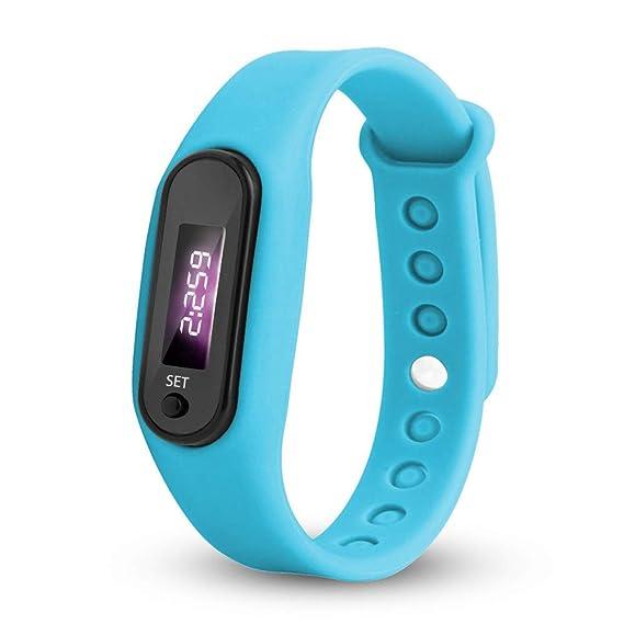 Uhren Damen Armbanduhr Run Step Watch Armband Schrittzähler Kalorienzähler Digital LED Gehabstand Uhr Sport-Armband?ABsoar
