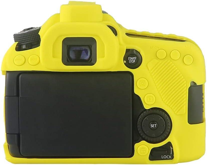 F/ür Canon EOS 80D SLR-Digitalkamera H/ülle,Colorful Leichte rutschfeste Sto/ßfeste Silikon Schutzh/ülle Case Cover f/ür Canon EOS 80D SLR-Digitalkamera